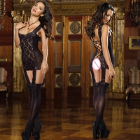 New women 's sexy lingerie lace harness one - piece stockings piece of open clothing open sexy sexy piece of clothing