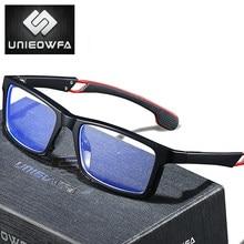 UNIEOWFA fotosensibles deporte prescripción gafas hombres ópticos miopía gafas TR90 Marco Progresivo gafas Anti-luz azul