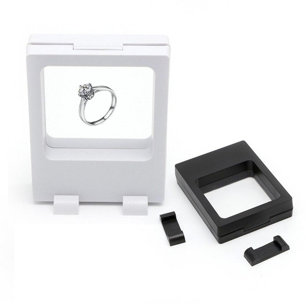 1 Pc Mode Schmuck Stand Display Box Präsentation Fall Schwimm Ausgesetzt Display Schaufenster Halter Box Fall Schnelle Farbe