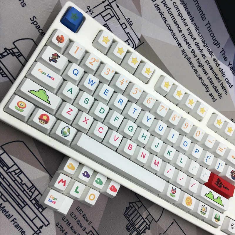 d85b575d665 112pcs pack OEM height Heat Sublimation Key Caps Super Mario Personality  Caps 6.25x Standard