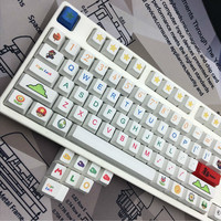 112pcs/pack OEM height Heat Sublimation Key Caps Super Mario Personality Caps 6.25x Standard PBT Mechanical Keyboard keycaps
