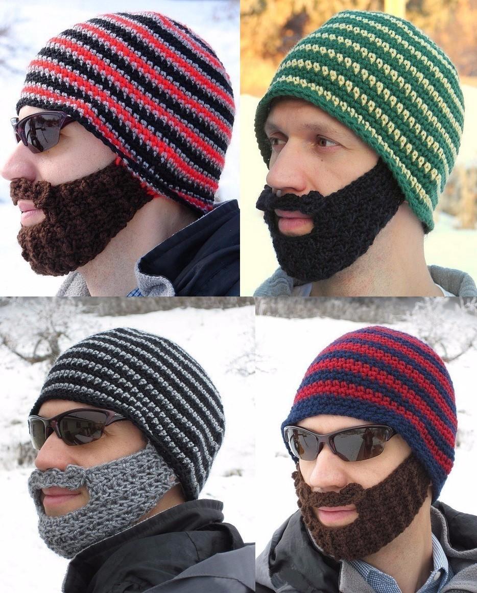knit beard hat men beaine ski face mask balaclava winter hats for ...
