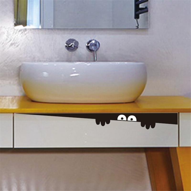 Hot Sale DIY Funny Peep Monster Toilet Bathroom Vinyl Wall Sticker Decal Art Removable Home Decor Decoration Stickers. Sale Bathroom Furniture Promotion Shop for Promotional Sale
