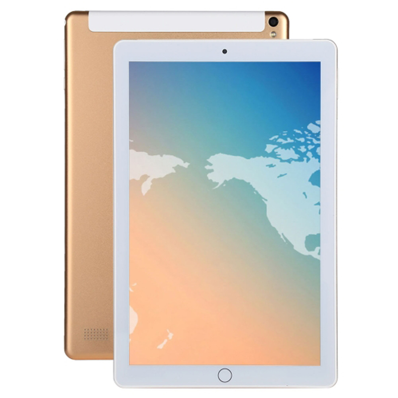 10,1 дюймов 3g Телефонный звонок Tablet PC 4 ГБ + 64 ГБ Android 7,0 Octa Core 2,0 ГГц, dual SIM Поддержка gps OTG Wi-Fi Bluetooth (золото)