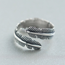 LISTE&LUKE 1pc Newest Design Top Quality Unisex 316L Stainless Steel Fashion Jewelry Feather Ring
