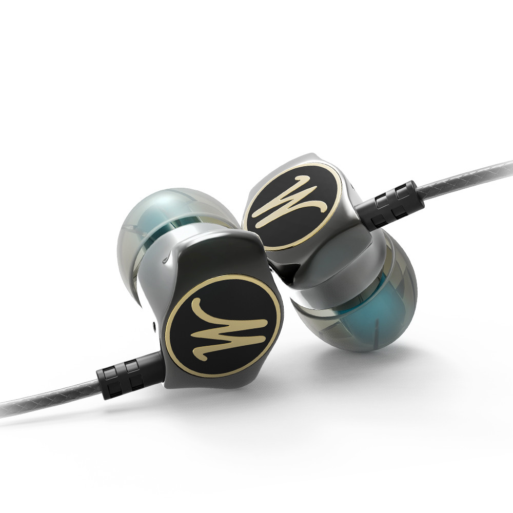Headphone PTM D06 Metal Headset Stereo Earbuds Bass Earphone With Microphone for mobile phone
