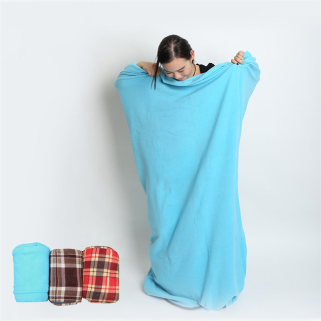 Ultra-light Multifuntion Polar Fleece Sleeping Bag Portable Outdoor Camping Travel Spring and Winter Warm Sleeping Bag Liner