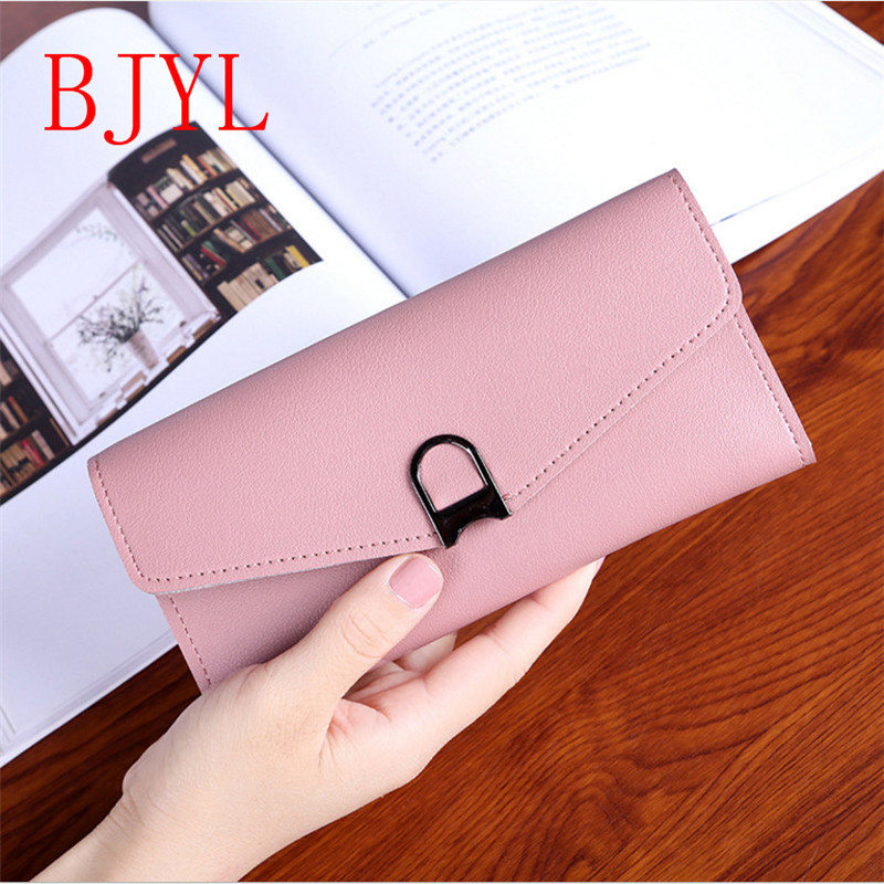Women Wallets PU Leather Wallet Female Purse Long Coin Purses Holders Ladies Wallet Hasp Fashion Women Wallets Purses eleganzza серые перчатки с отделкой