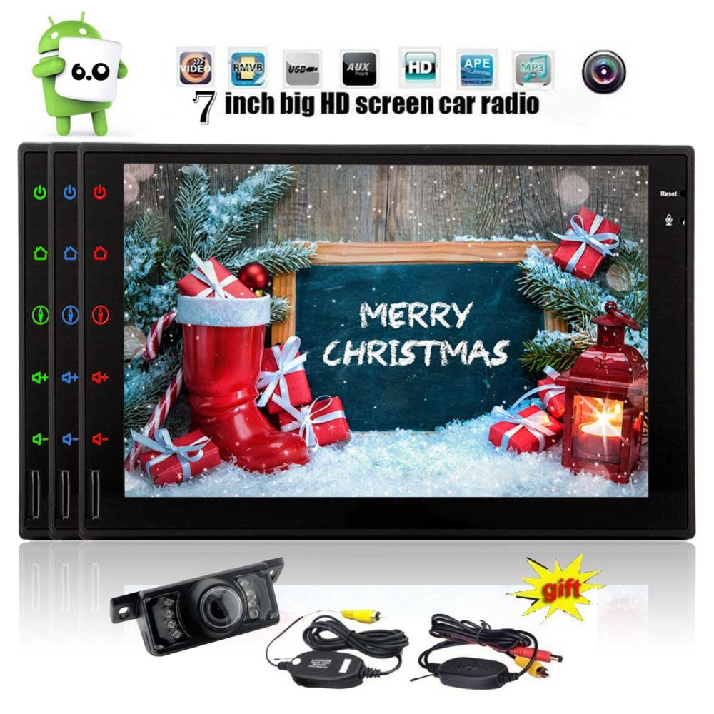Android 6.0 in Dash Eincar 7 inch Double din Car PC Stereo with 3D GPS Navigation Quad-core Auto radio Bluetooth Video Player
