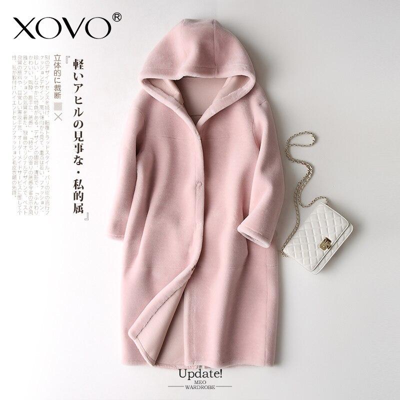 Laine de mouton veste Mouton coupe manteau féminin femme chaleur 2018 nouveau hiver fourrure un mouton laine manteau