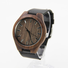 Newest Walnut Wooden Watches For Men and Women Leather Strap With High Janpen 2035 Movement   Quality  Quartz Friendly wholesale