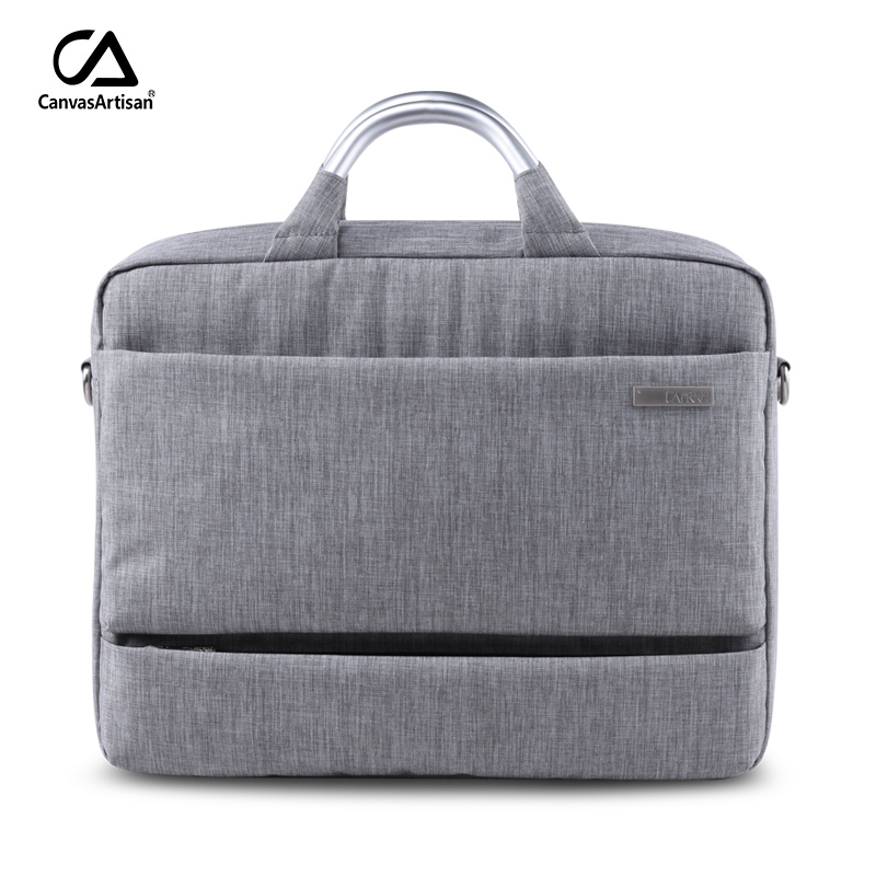 ФОТО Canvasartisan 2017 Men Laptop Bags Waterproof Briefcases 15.6 inch Laptop Shoulder Handbag Notebook Bags Unisex Top Quality