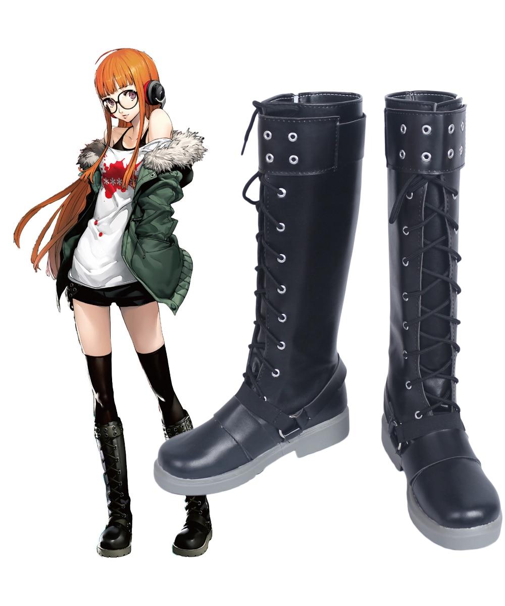 Persona 5 Futaba Sakura Cosplay Boots Shoes Custom Made