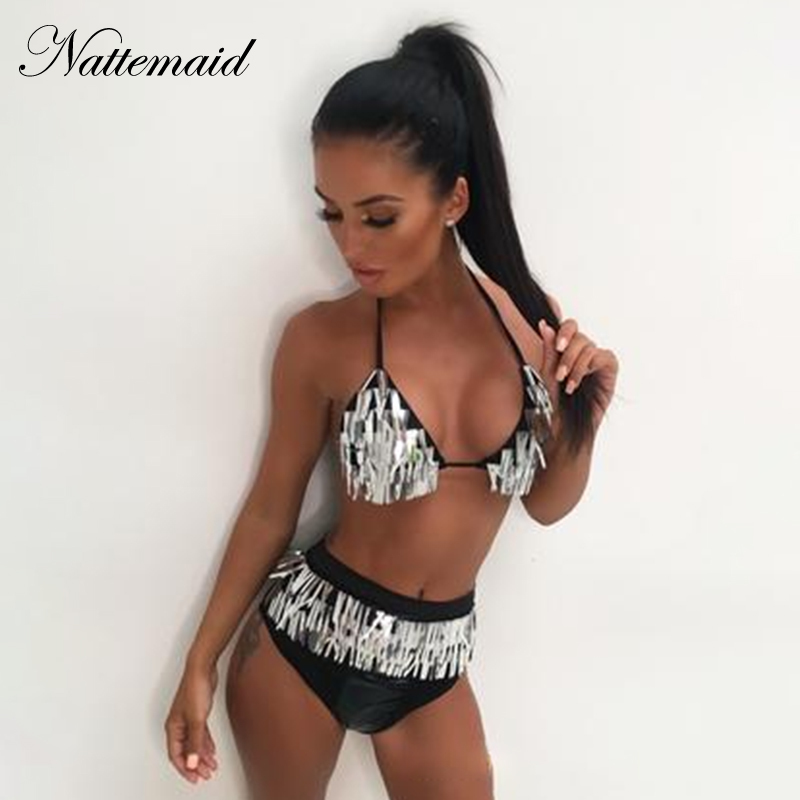Bodysuits Nattemaid 2018 New Fashion Sexy Print Bodysuit Women Hollow Out Lace Up Summer Playsuit Vintage Bandage Cut Out Beach Wear Elegant Shape