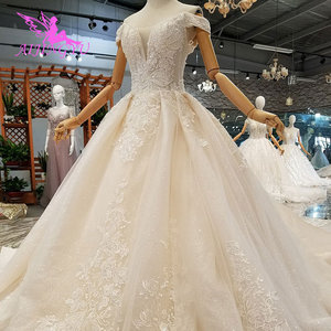 Image 4 - AIJINGYU Wedding Dress Train Turkey Sparkly Sequins Grey Womens Luxury Ball 3Xl Gown Prices Lace Bridal Gowns