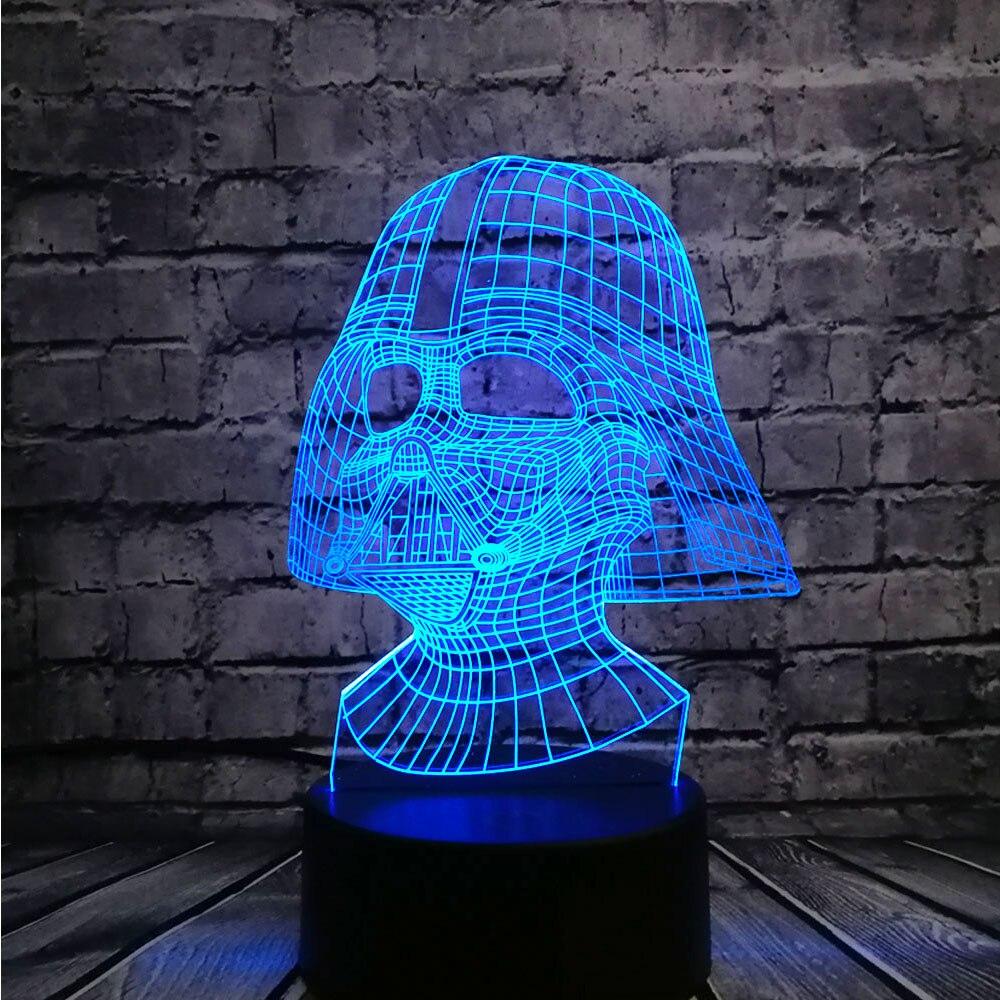 NUEVO Star Wars Darth Vader Dark Warrior 3D Night light USB LED - Luces nocturnas - foto 3