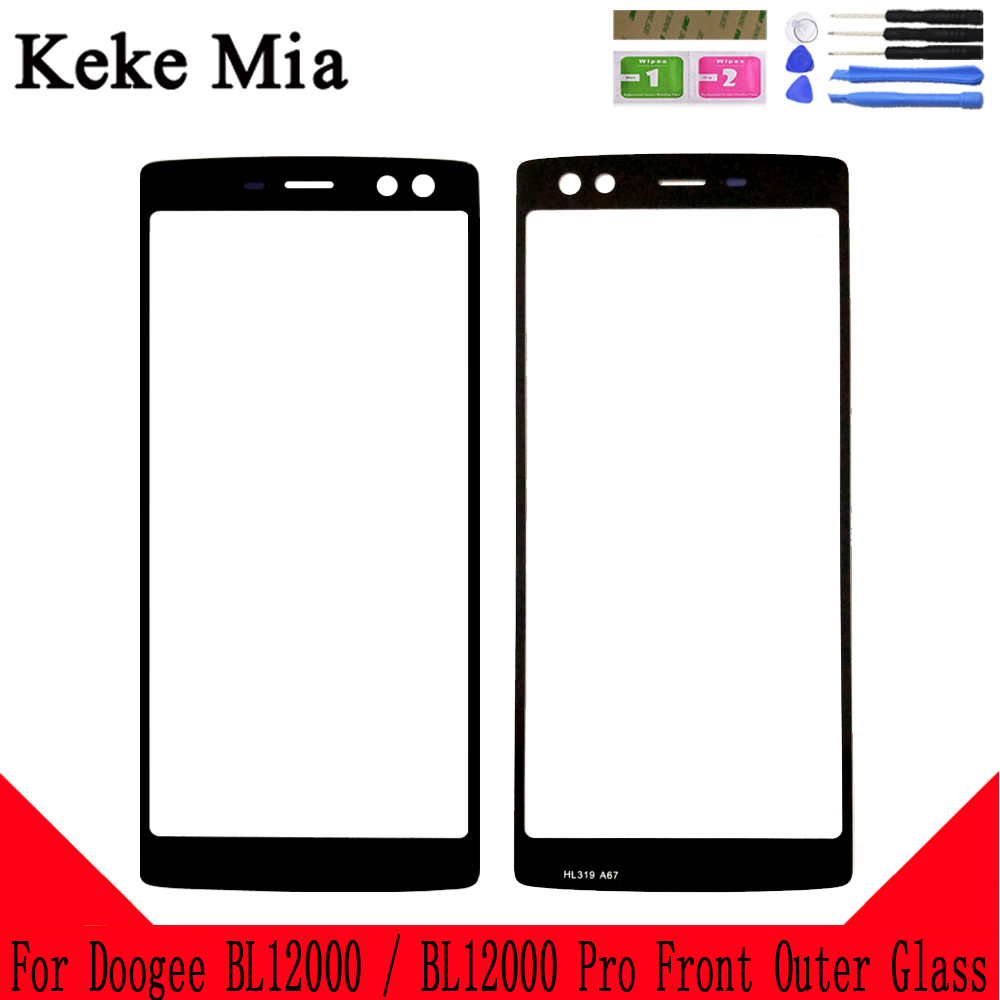 Keke Mia 6 0 quot New 100 For Doogee BL12000 Front Glass Screen Lens Touch Panel Glass Outer Lens for Doogee BL12000 Pro in Mobile Phone Touch Panel from Cellphones amp Telecommunications