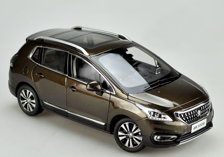 Original 1:18 Collectibles new 2016 Peugeot 3008 SUV alloy car models Favorites Model factory 1 18 overbearing suv alloy car models many movable member favorites model