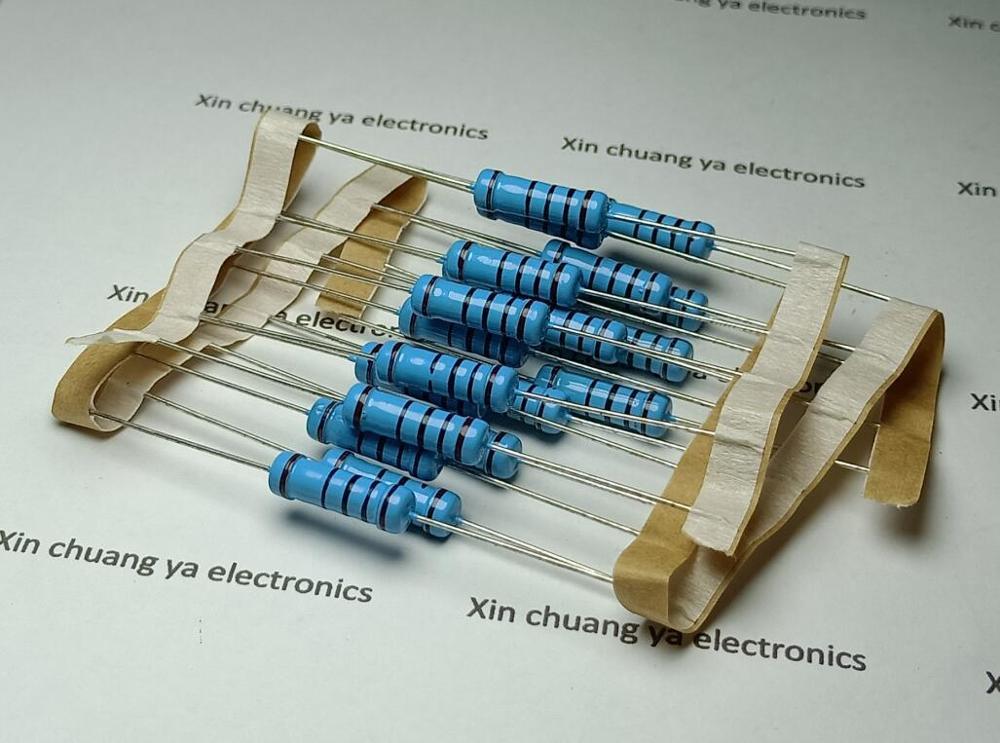 0.33R 2.2R 4.7R 8.2R 15R 39R 51R 150R 470R 510R 2K 150K 200K Ohm 2W 1% Five-color Ring Metal Film Resistor