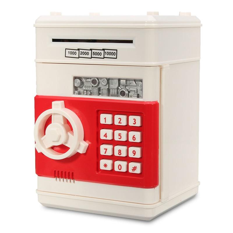NEUE Safurance Mini Piggy Bank ATM Spardose Sicherheit Elektronische Passwort Cash Anzahlung Maschine Sicherheit Safes