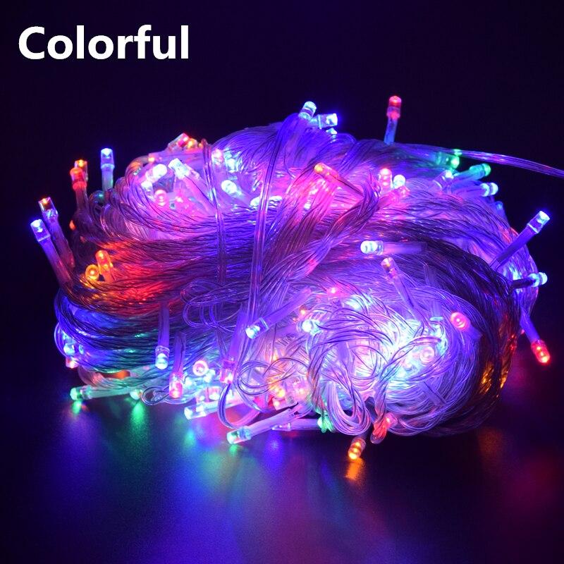 Рождественские уличные рождественские огни светодиодные гирлянды 100 м 10 м 5 м Luces Decoracion Сказочный свет Праздничные огни освещение гирлянда - Испускаемый цвет: Colorful