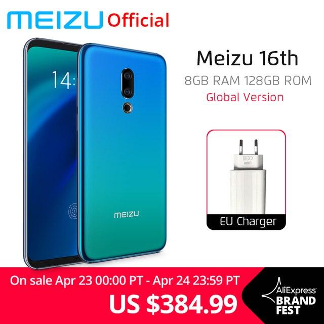 Global Version Meizu 16th 16 th Mobile Phone 8GB 128GB Snapdragon 845 Octa Core 6'' 2160x1080P 3010mAh Battery Dual Rear Camera