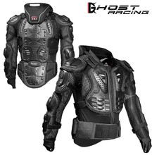 GHOST RACING Motorcycle Jackets Armor Racing Body Protector Jacket Motocross Motorbike Protective Gear + Neck Protect