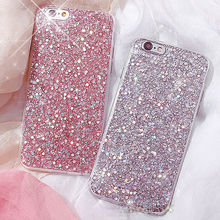 Fashion Bling Shining Powder Sequins Phone Case For iPhone 7 8 6 6S Plus X Soft Silicone Glitter Back Cover For iPhone7 5 5S SE