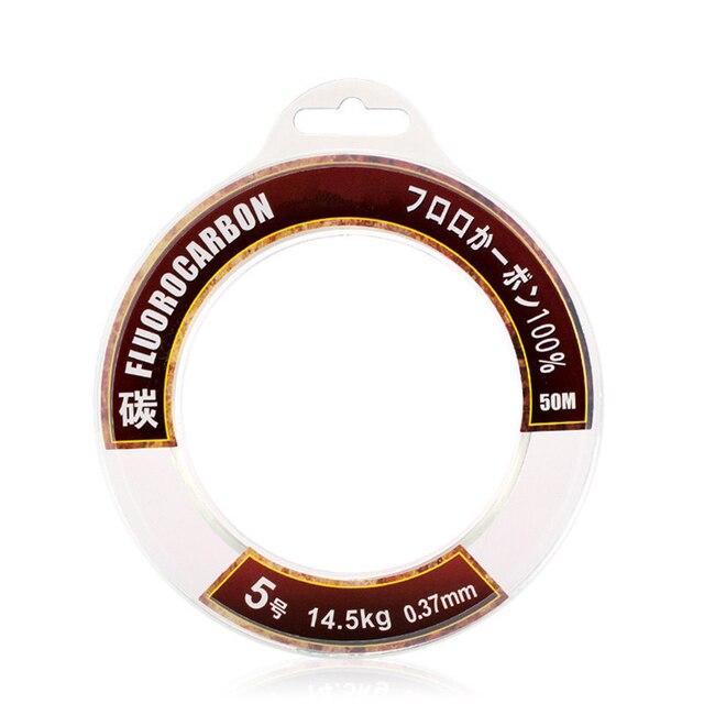 Супер сильная 50 м 100 м 100% фторуглеродная леска для оплетки рыболовная леска нахлыстовая катушка для морской ловли рыболовная моноволоконная нить