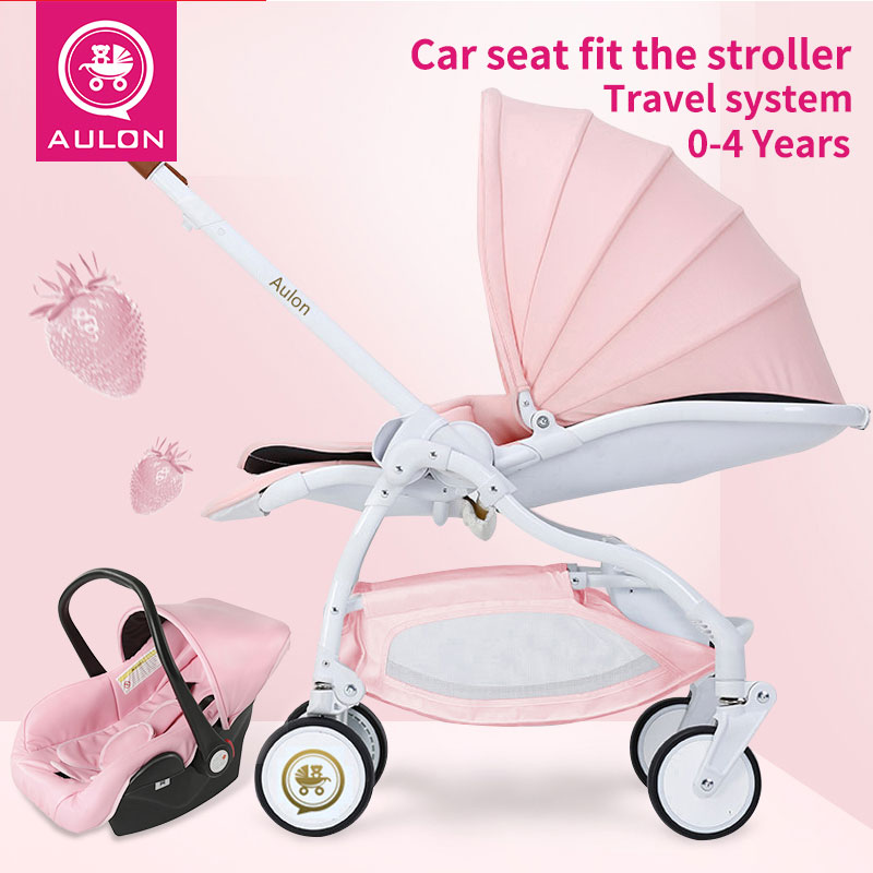 3 in1 baby stroller newborn baby carrriage light umbrella car carriage four-wheel folding can be lying Strollers For Dolls