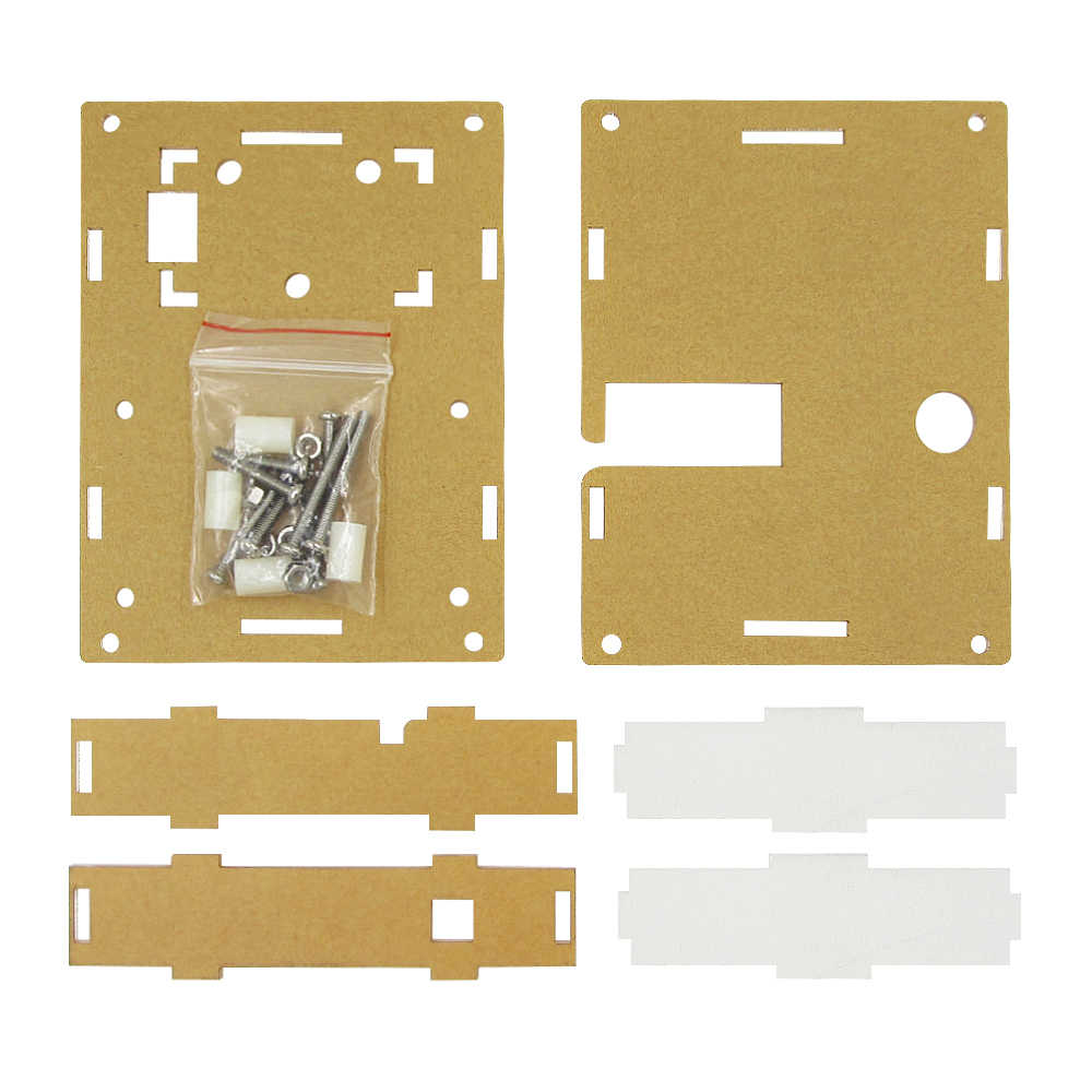 Przezroczysty akryl przypadku Shell obudowa dla LCR-T4 M328 tranzystor Tester pojemności ESR Mega328