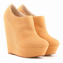 10 Colors New Sexy Lady Wedges Super 14cm High Heels Platform Vogue Women's Shoes Fashion Pumps Big Size 35-42