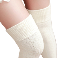 2016 Female Stockings High Quality Knitwear Executives Stockings Knee Socks Thick Warm Stockings Free Shipping