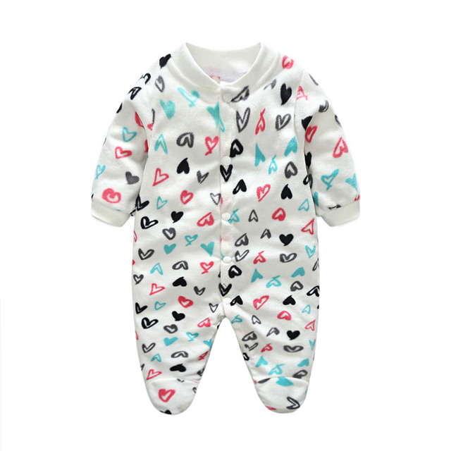 d5a47de11 Newborn Baby Rompers Boy Girl Footed Rompers Animal Romper Long Sleeve  Fleece Sleep Clothes Pajamas Summer Baby Romper Product