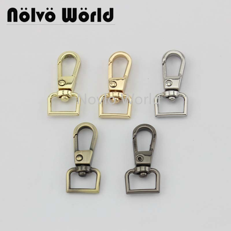 "10 pieces test, 32*11mm 1/2"" small size small quantity bags purse accessories, suitcase or handbag strap chain swivel clasps()"