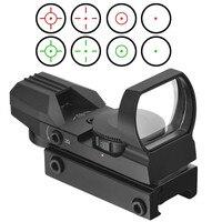 Топ 11 мм/20 мм железнодорожных прицел Охота Airsoft оптика Сфера Голографическая Красный точка зрения рефлекс 4 сетка тактический пистолет Инти...