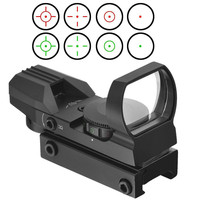 Tactical RIfle Lamp Light Holographic 4 Reticle Red Green Dot Sight 22mm 20mm Picatinny Weaver Standard