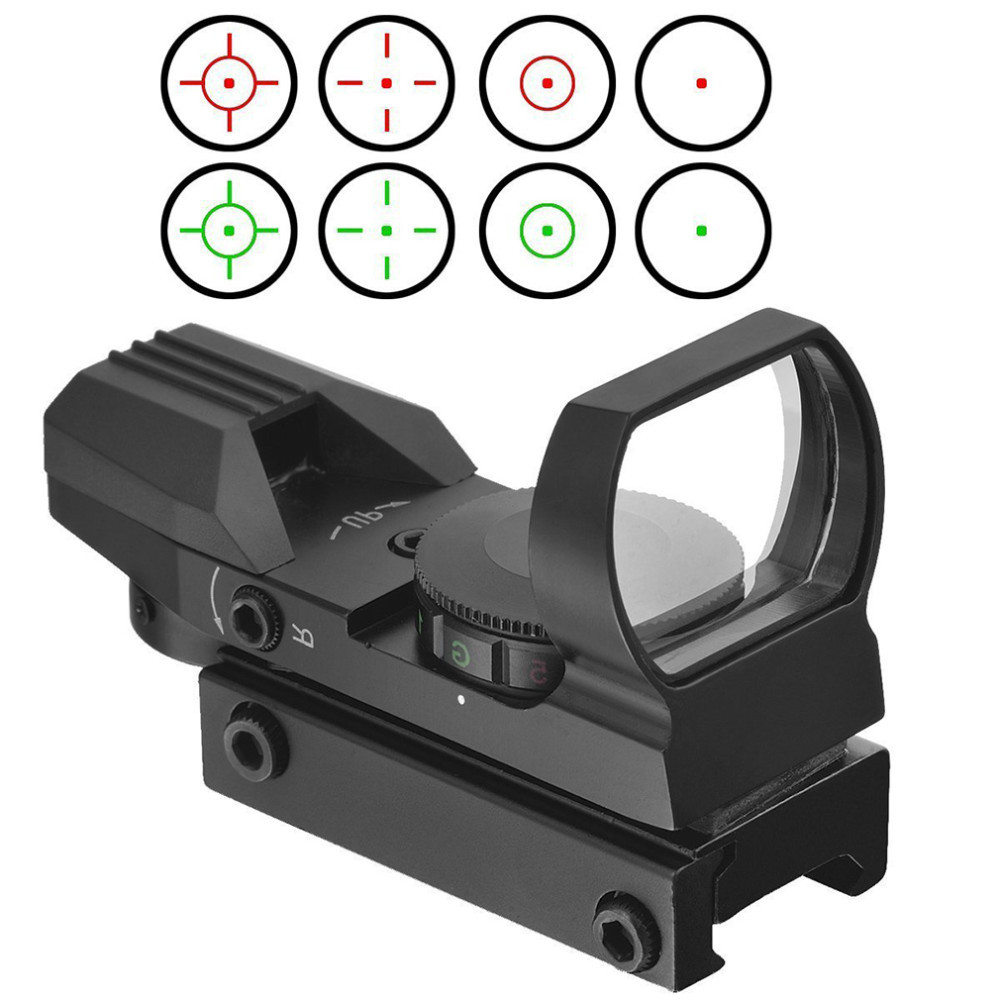 Top 11mm / 20mm Rail Riflescope Hunting Airsoft Optics Scope Holographic Red Dot Sight Reflex 4 Reticle Tactical Gun Accessories