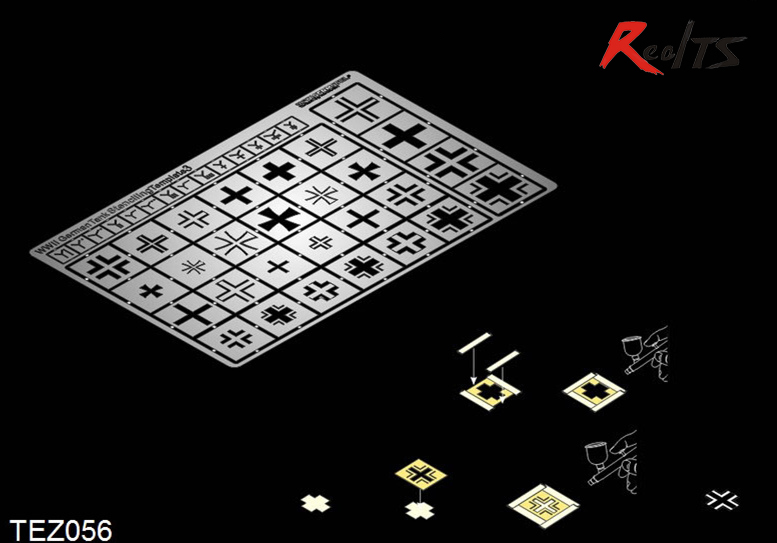 RealTS Voyager TEZ 056 1/35 WWII German Tank Stenciling Template