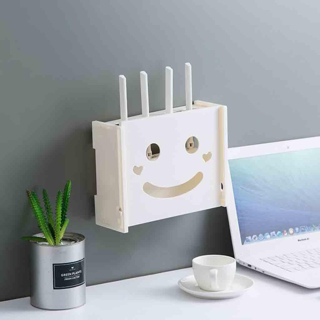 Wireless Router Organizer Tv Set-top Boxen Regal Wifi Router Lagerung Box Kunststoff Regal Wand Halterung Kabel Veranstalter Kunststoff 5,17 Hoher Standard In QualitäT Und Hygiene