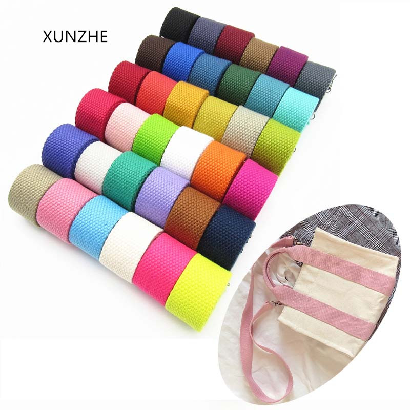 XUNZHE 3m* 25 Mm Canvas Ribbon Belt Woven Tape Nylon Band Backpack Binding Sewing Bag Belt Accessories 1.5mm Thick