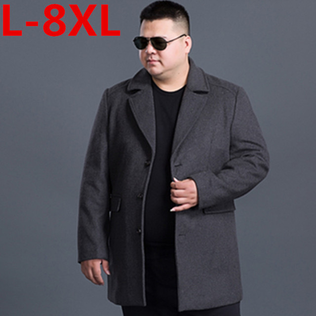 8dae33206f2ba new big size 8XL 7XL Winter Jacket Men Thickening Wool Coat Slim Fit Jackets  Outerwear Warm