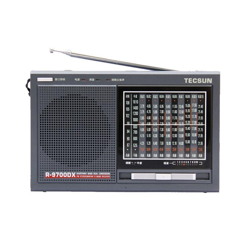 TECSUN R-9700DX Original Guarantee SW/MW High Sensitivity World Band Radio Receiver With Speaker Free Shipping freeshipping tecsun pl 600 full band fm mw sw ssb pll synthesized stereo portable digital radio receiver pl600