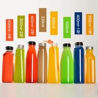 Plastic Water Bottles 20/pcs 200ml~500ml PET bottle for water drink Disposable My bottle Leakproof Customized pattern