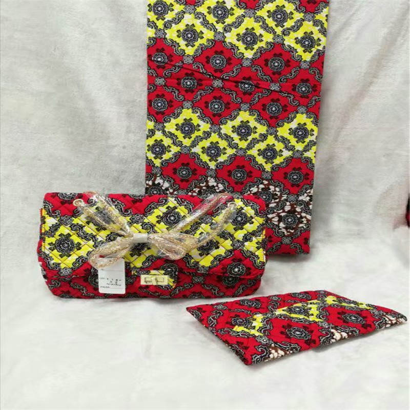 New Fashion arrival real regular real soft new wax fabric with womans handbag set.african ankara wax bag for sewing ! L60528New Fashion arrival real regular real soft new wax fabric with womans handbag set.african ankara wax bag for sewing ! L60528
