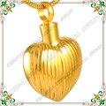 CMJ8349 recuerdo joyería plateó los collares para cenizas urna corazón encantos Joyería de los colgantes de acero inoxidable