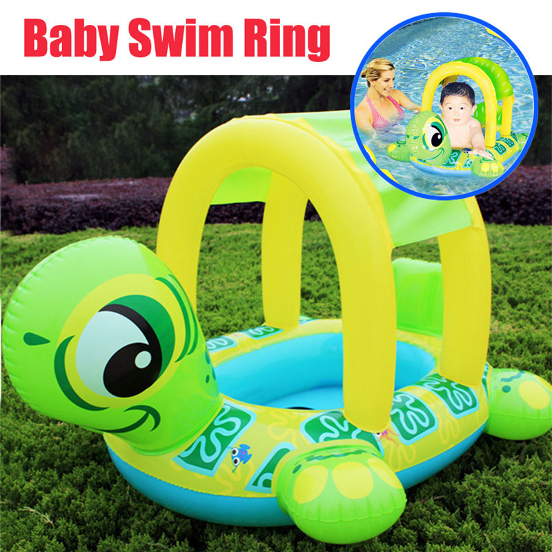 Swimming Pool Water Toys Baby Swimming Circle Floating Plate Water Toys Floats New Sunshade Baby Infant Float Seat Car