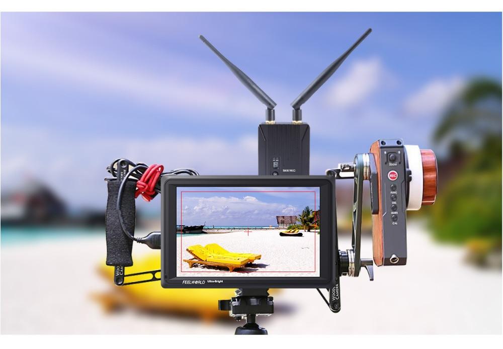FEELWORLD FW279S 7 дюймов ips 2200 нит 3G-SDI 4K HDMI камера полевой монитор 1920X1200 DSLR монитор для съемки видеофильмов