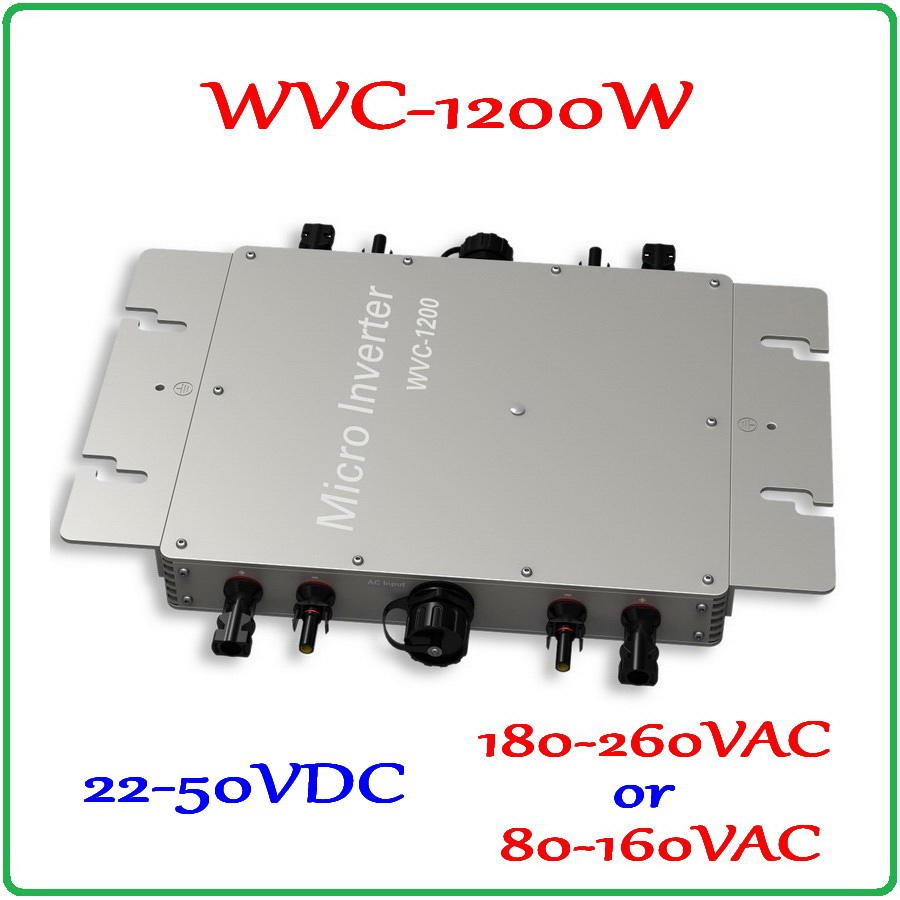 1200W Waterproof IP65 22-50VDC Grid Tie Micro Inverter 36V DC to AC 220V or 110V Pure Sine Wave Output On Grid Inverter 1200W 22 50v dc to ac110v or 220v waterproof 1200w grid tie mppt micro inverter with wireless communication function for 36v pv system