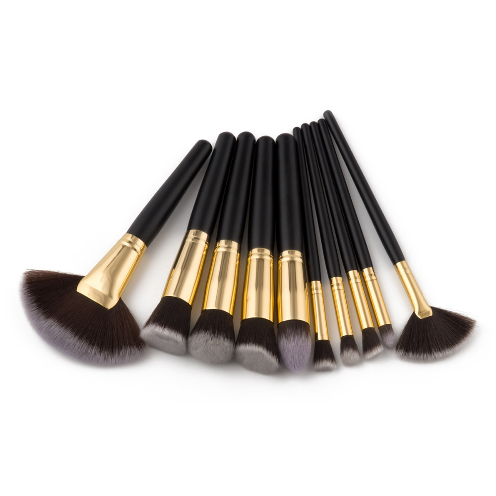 10pcs Professional Makeup Brushes Foundation Eyeshadow Powder Cosmetics Make Up Tools Highlighter brush set 50sets/lot (OS1020) цена